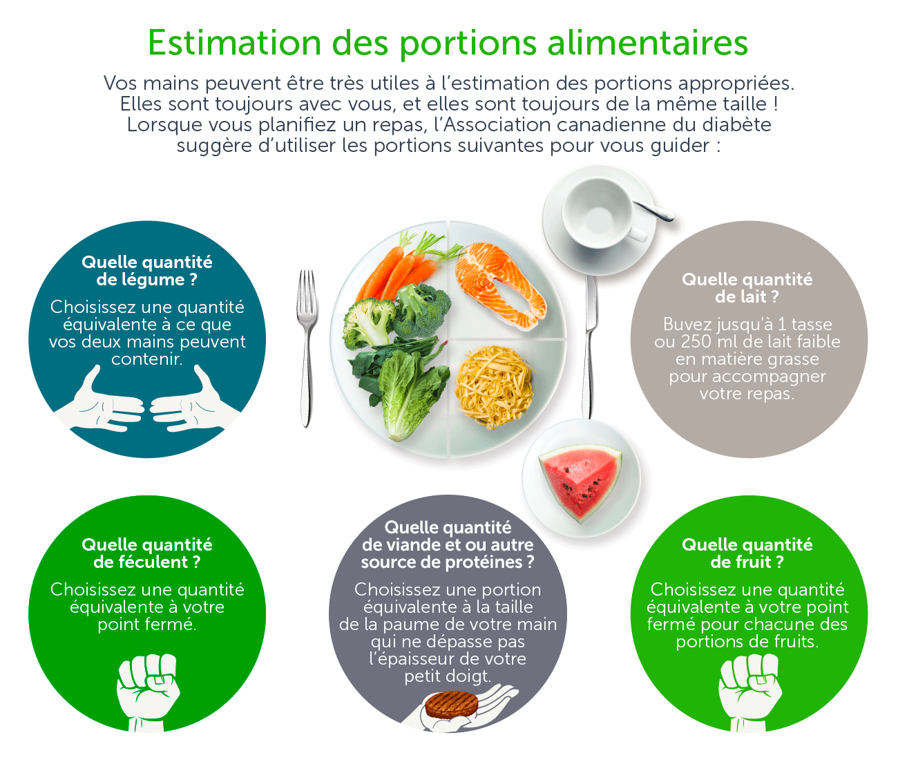 Estimation des portions alimentaires